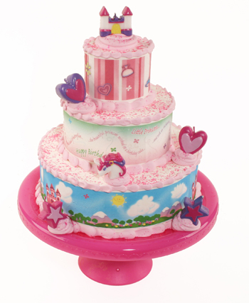 Princess Edible Image Tiered Cake