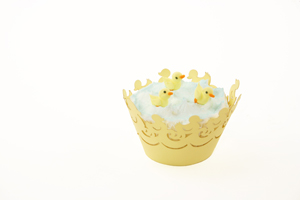 Yellow Ducky Cupcake with Wrapper
