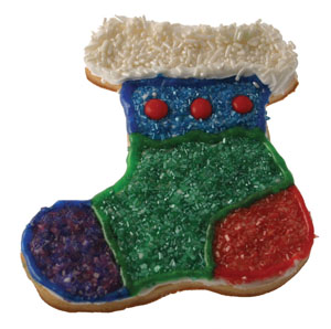 Pearlized Sprinkles Stocking Cookie