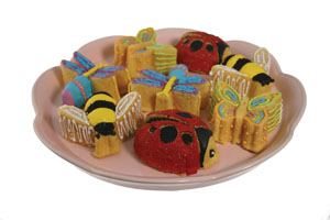 Backyard Bugs Mini Cakes