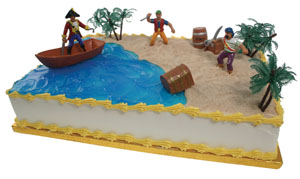 Pirate Beach Scene Cake