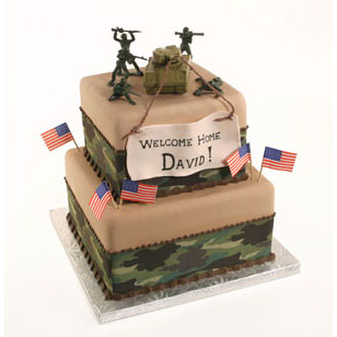 Welcome home soldier cake country kitchen sweetart cake for Welcome home troops decorations