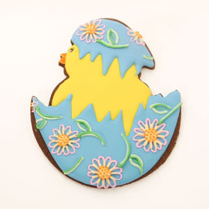 Chick and Cracked Egg Easter Cookie