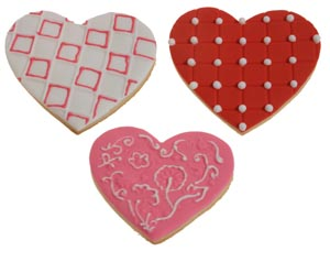 Pink and Red Texture Set Heart Cookies