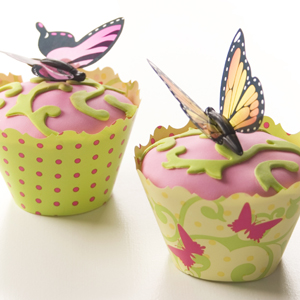 Fluttering Butterfly Cupcakes