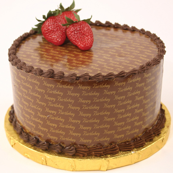 Chocolate Transfers Around a Cake