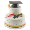 Classic Two Tier Graduation Cake
