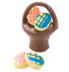 Chocolate Easter Basket with Egg Candies