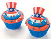 Uncle Sam Red White and Blue Cupcakes