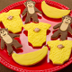 Monkey Baby Shower Cookies