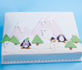 Playful Penguin Winter Cake