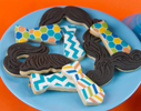 Mustache and Tie Cookies