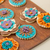 Fabric Flower Cookies
