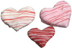 Striped Valentines Cookies