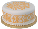 French Medallion Stenciled Cake