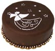 Angel with Stars Christmas Cake