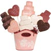 Pink Heart and Wedding Cake Cookie Bouquet
