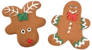 Gingerbread Boy or Red Nose Reindeer Cookie