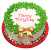 Happy Holidays Holly Cake
