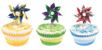 Happy Birthday Pinwheel Cupcakes