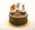 Jungle Animal Cupcakes on Cake