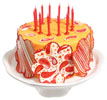 Red and Orange Paisley Cake