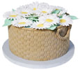 Daisy Basketweave Cake