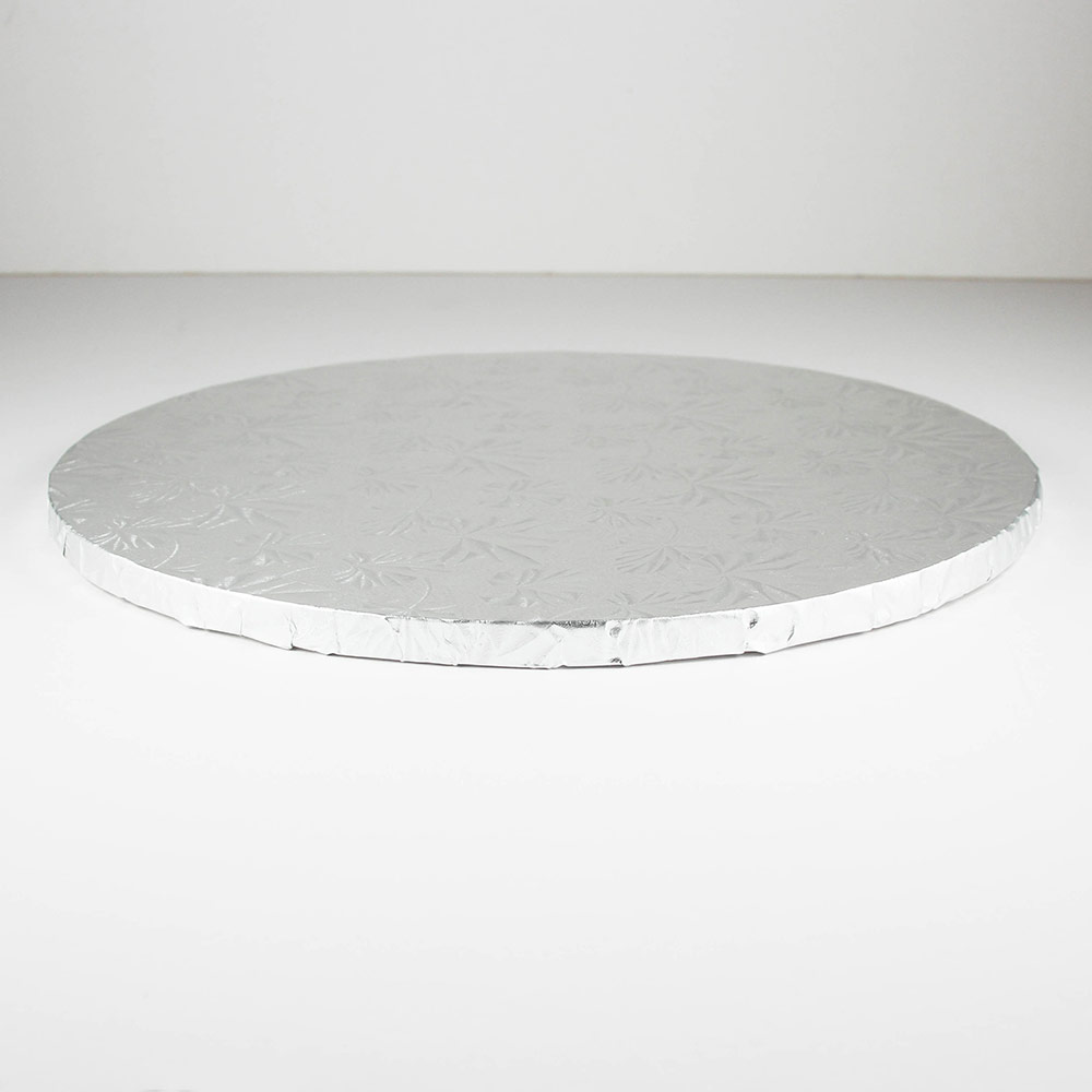 "9"" Round Silver Foil Cake Drum - 27-2009"