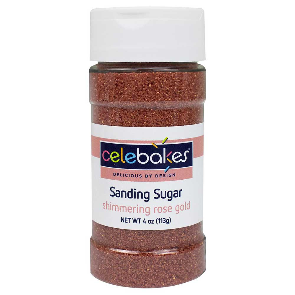 Snow Shimmer Coarse Gold and White Sugar Sanding Sprinkles Decorations Cake Deco