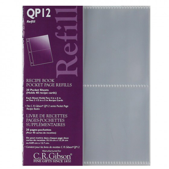 Recipe Book Refill Pages (4 X 6) - CRG-QP12